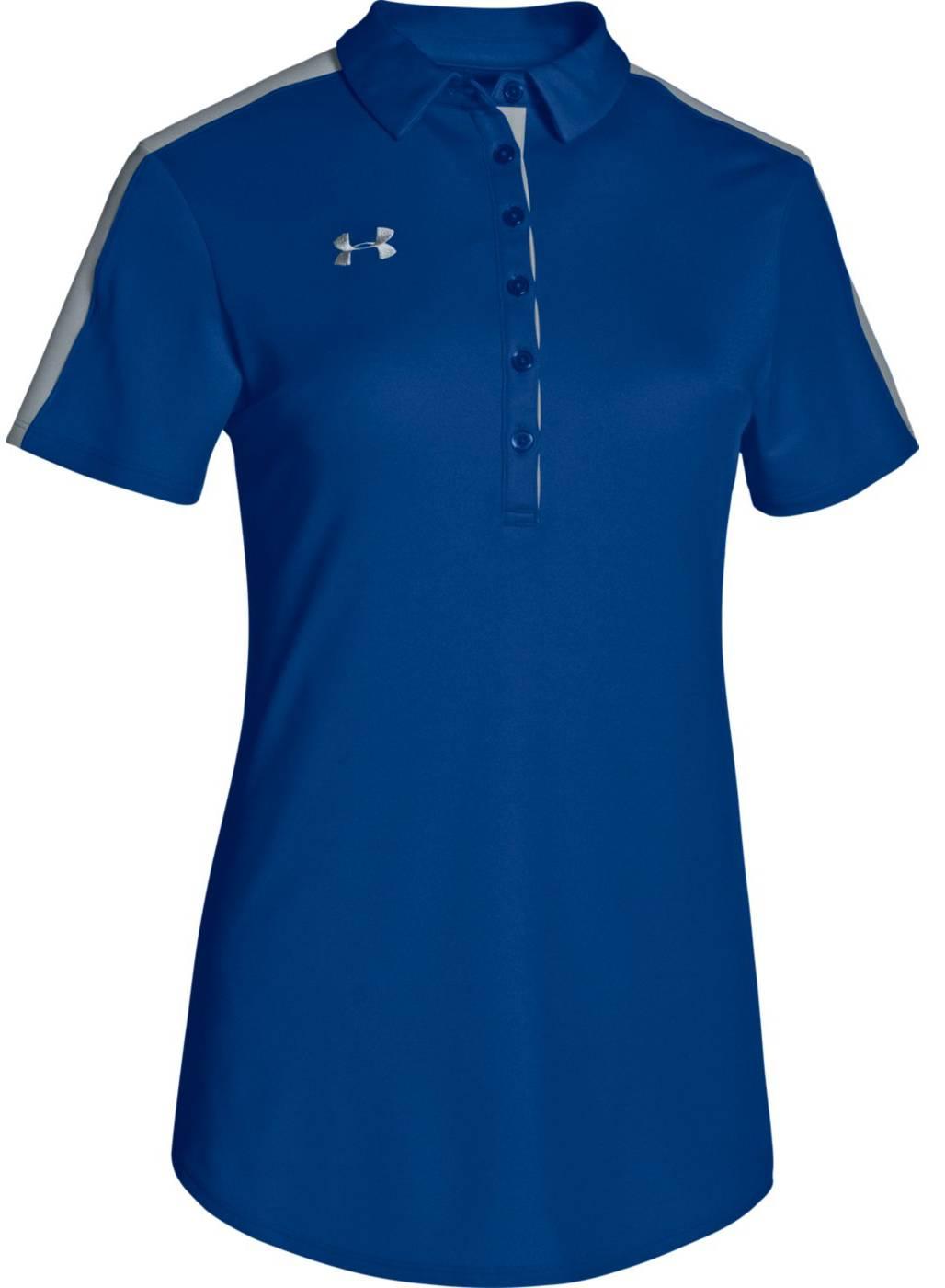 Under Armour Women 39 S Team Colorblock Polo Shirt