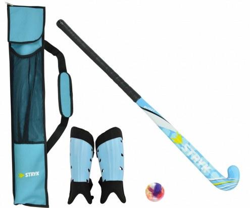 STRYK Burst Beginner Field Hockey Stick Package - Blue