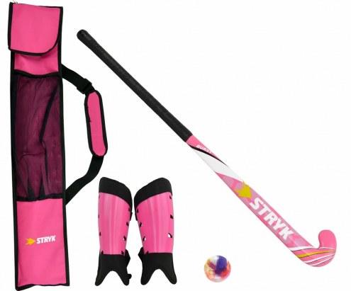 STRYK Burst Beginner Field Hockey Stick Package - Pink