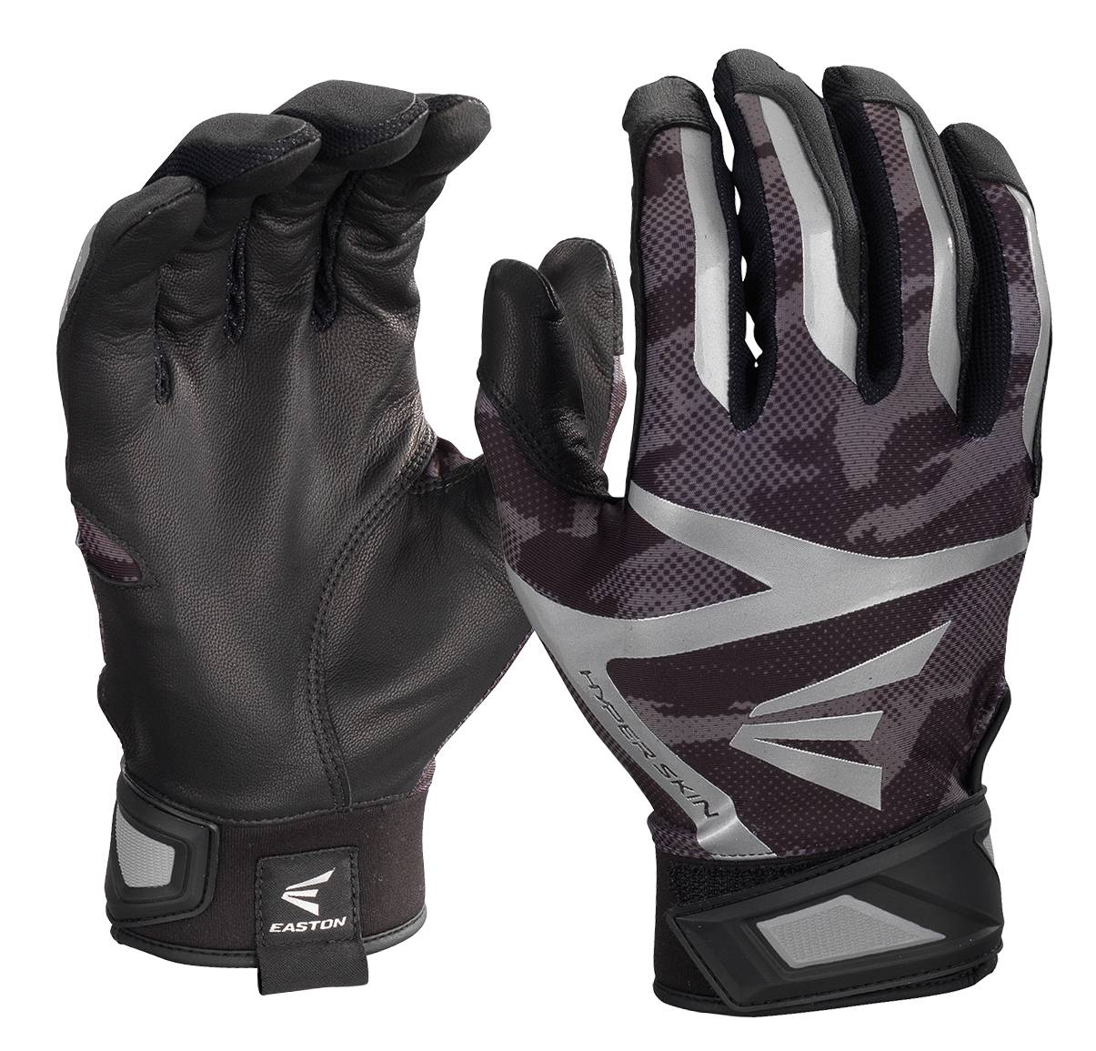 Black batting gloves - Constructed With A Tacky Goatskin Leather Palm The Easton Z7 Hyperskin Adult Baseball Batting Gloves Provide An Excellent Grip On Your Bat So You Can Hit