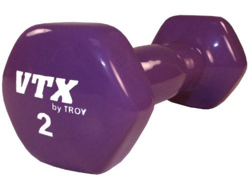 2 LB Premium Bright Vinyl Coated Dumbbell