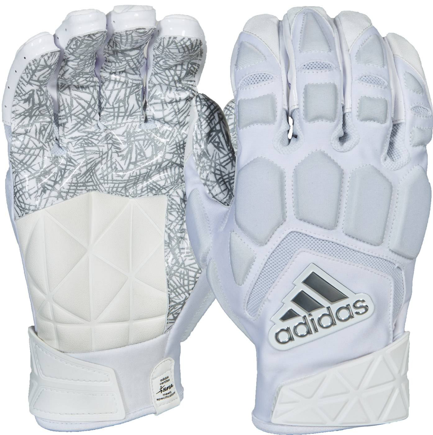 white lineman football gloves