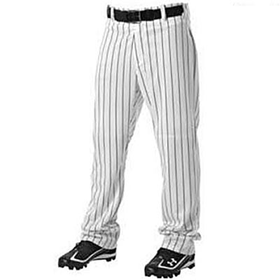 Alleson 605WPN Open Bottom Pinstripe Baseball Pant