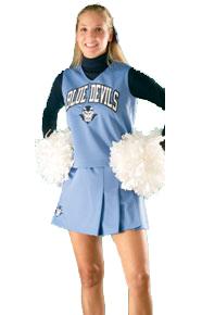 Alleson Women's Cheerleading Uniform Solid Three Pleated Skirt