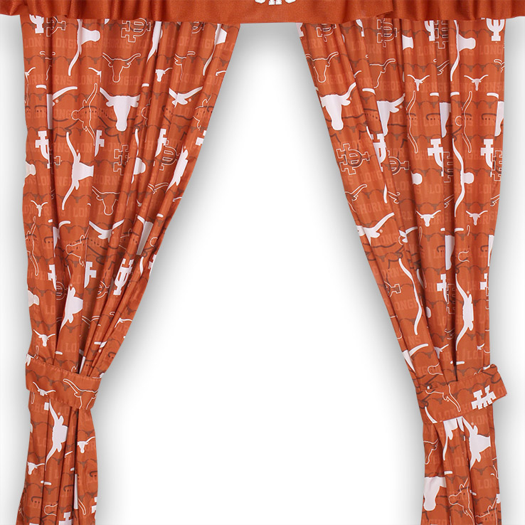 Texas Longhorns All Over Curtains