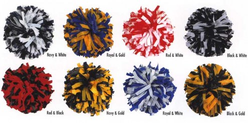 Adult 2 Color Mix Cheerleading Pom Poms
