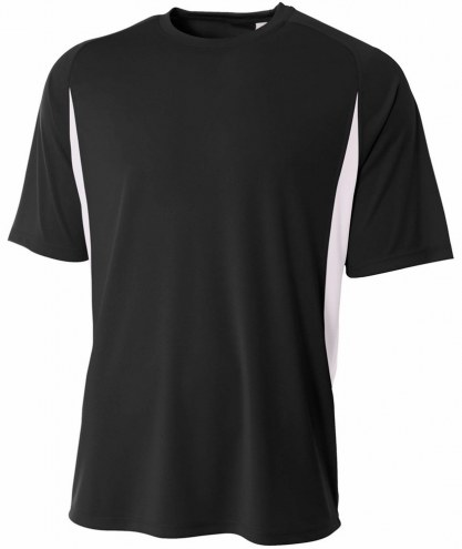 A4 Youth Cooling Performance Color Blocked Short Sleeve Custom Crew