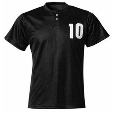 A4 2 Button Youth Mesh Custom Baseball Henley
