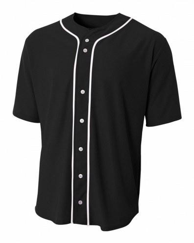 A4 Short Sleeve Full Button Youth Custom Baseball Jersey