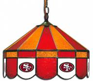 "San Francisco 49ers NFL Team 16"" Diameter Stained Glass Pub Light"