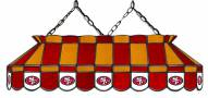 "San Francisco 49ers NFL Team 40"" Rectangular Stained Glass Shade"