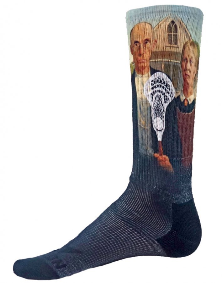 Red Lion Lax Art Sublimated Crew Socks