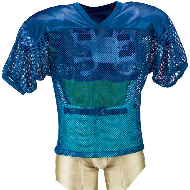 Youth Porthole Mesh Practice Football Jersey With Dazzle Shoulders