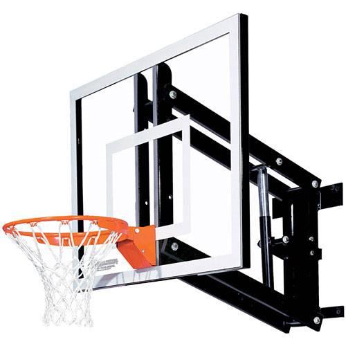 - Goalsetter GS48 Adjustable Glass Wall Mounted Basketball Hoop