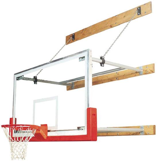 The Bison Competitor Stationary Wall Mounted Basketball Hoop features a NBA  regulation size 42