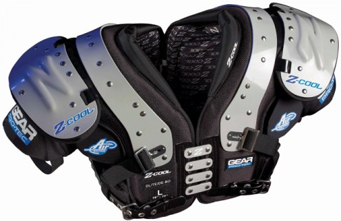 Gear Pro-Tec Z-Cool Adult Football Shoulder Pads - DL / TE / DE
