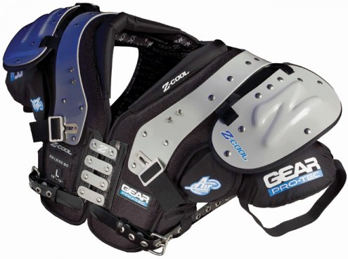 Gear Pro-Tec Z-Cool Adult Football Shoulder Pads - RB / LB / DE