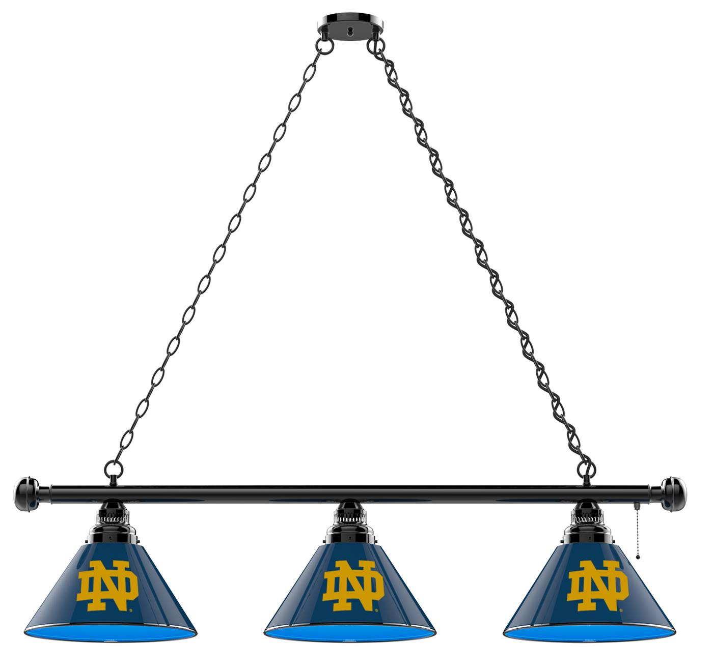 Superior Brighten Up Your Game Room With The Notre Dame Fighting Irish 3 Shade Pool  Table Light And Show Off Your Team Pride! This Officially Licensed Light  Fixture ...