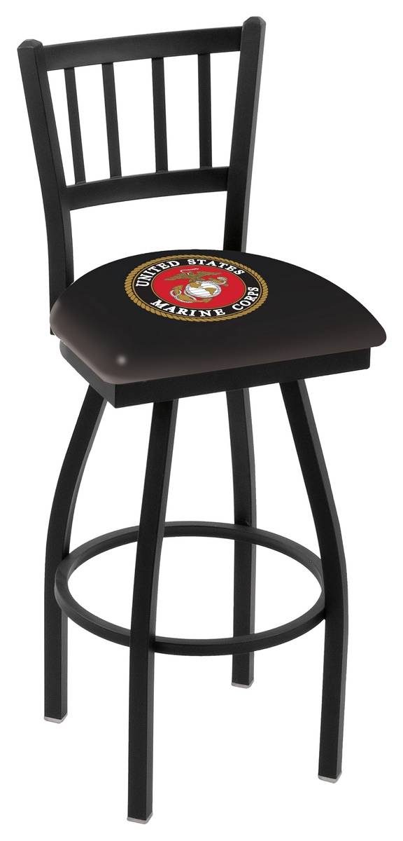 US Marine Corps Swivel Bar Stool with Jailhouse Style Back : 952 l018marine 25mainProductImageFullSize from www.sportsunlimitedinc.com size 576 x 1200 jpeg 83kB