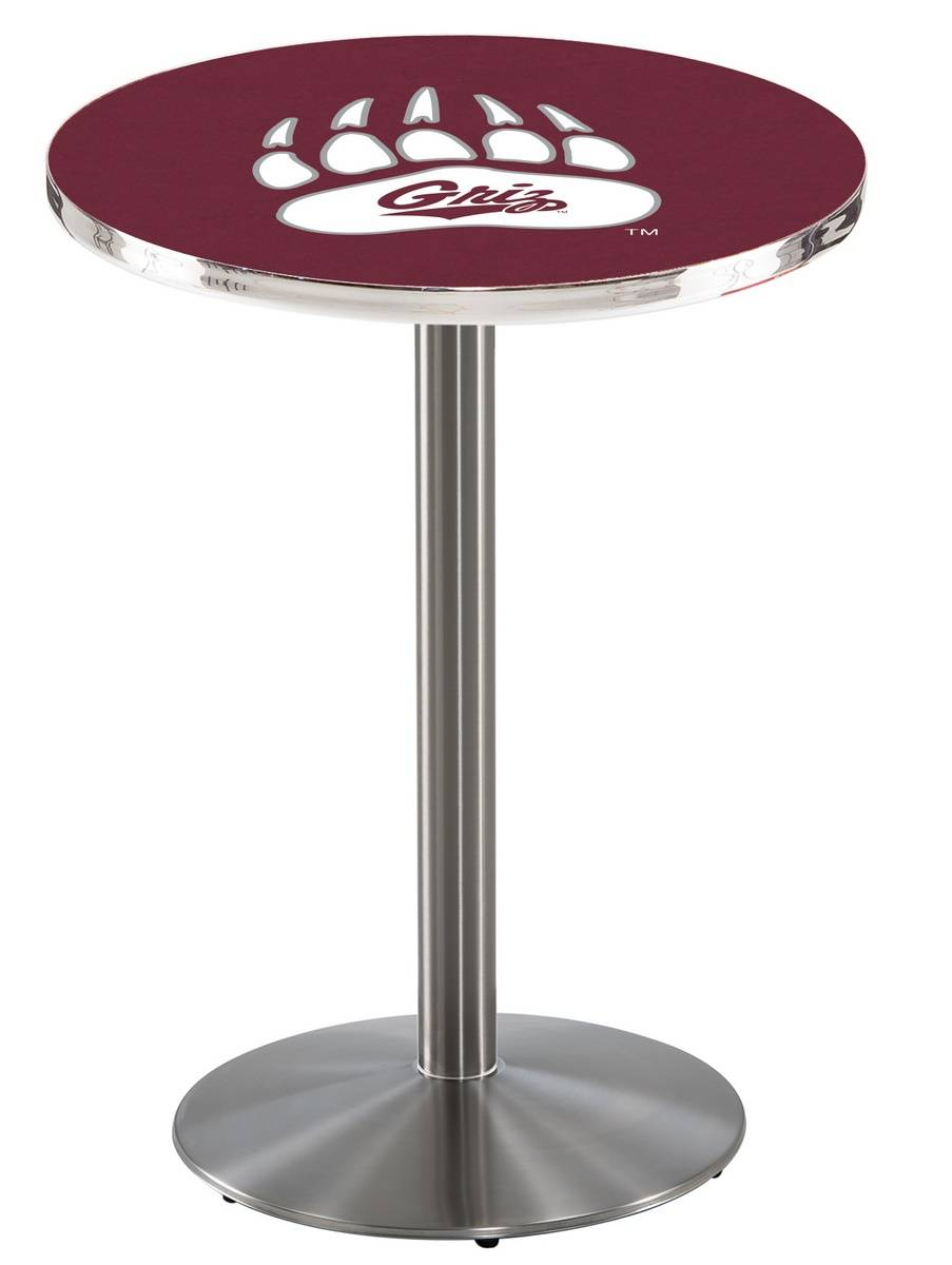 Montana Grizzlies Stainless Steel Bar Table with Round Base : 952 l214smontun 36mainProductImageFullSize from www.sportsunlimitedinc.com size 903 x 1200 jpeg 88kB
