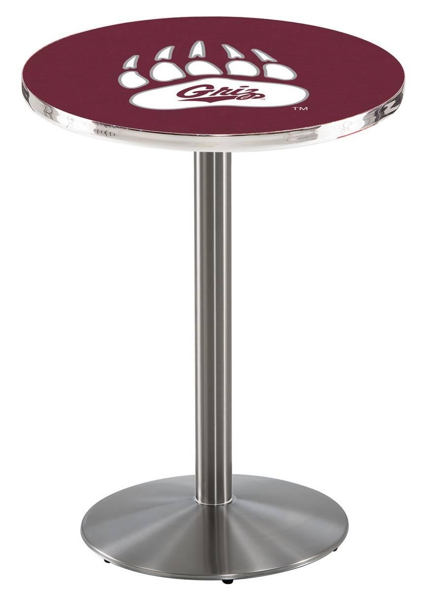 Montana Grizzlies Stainless Steel Bar Table with Round Base : 952 l214smontun 36mainProductImageFullSize from www.sportsunlimitedinc.com size 903 x 1200 jpeg 88kB