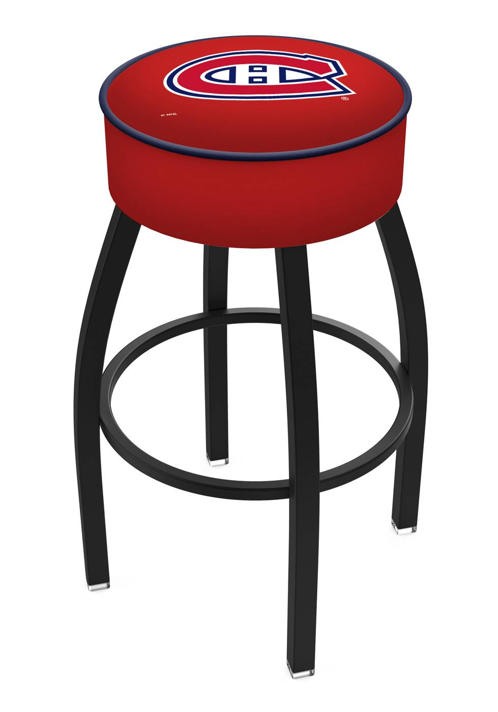 Home bar stool boston bar stool - Montreal Canadiens Black Base Swivel Bar Stool