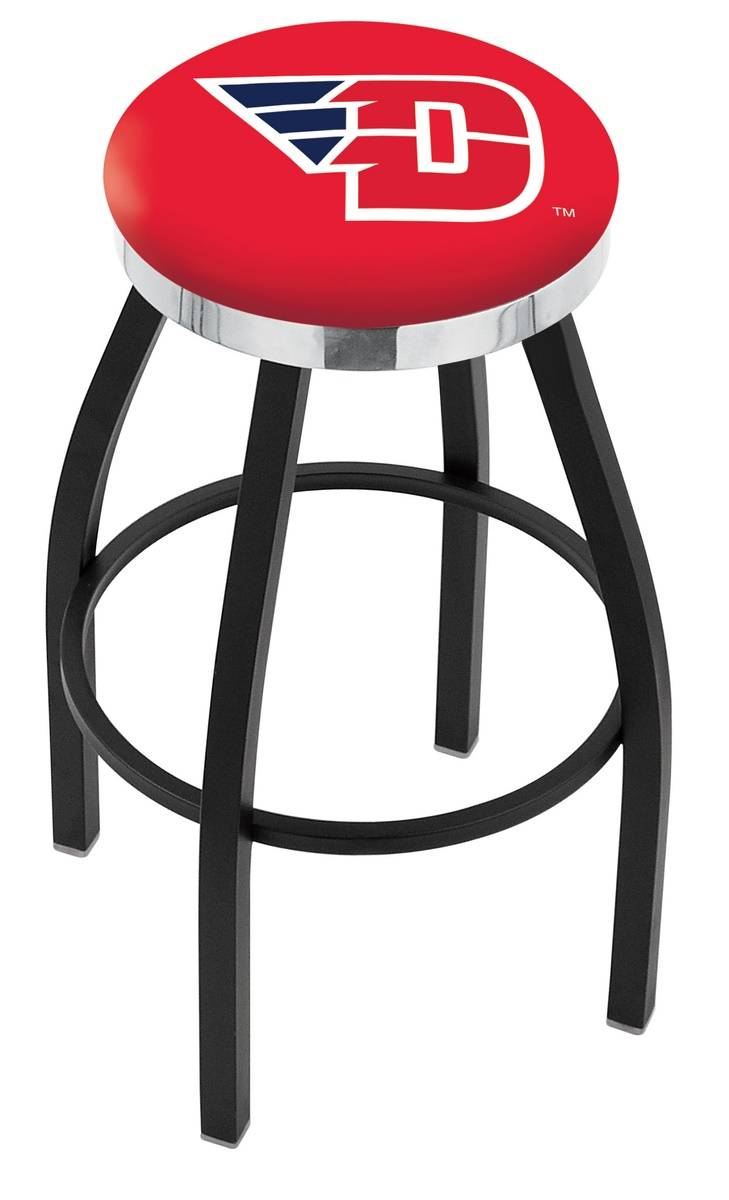 Dayton Flyers Black Swivel Barstool with Chrome Accent Ring : 952 l8b2cdytnun 25mainProductImageFullSize from www.sportsunlimitedinc.com size 729 x 1200 jpeg 97kB