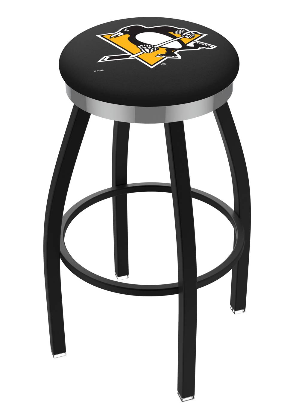 Pittsburgh Penguins Black Swivel Barstool with Chrome  : 952 l8b2cpitpen 25mainProductImageFullSize from www.sportsunlimitedinc.com size 711 x 1200 jpeg 104kB