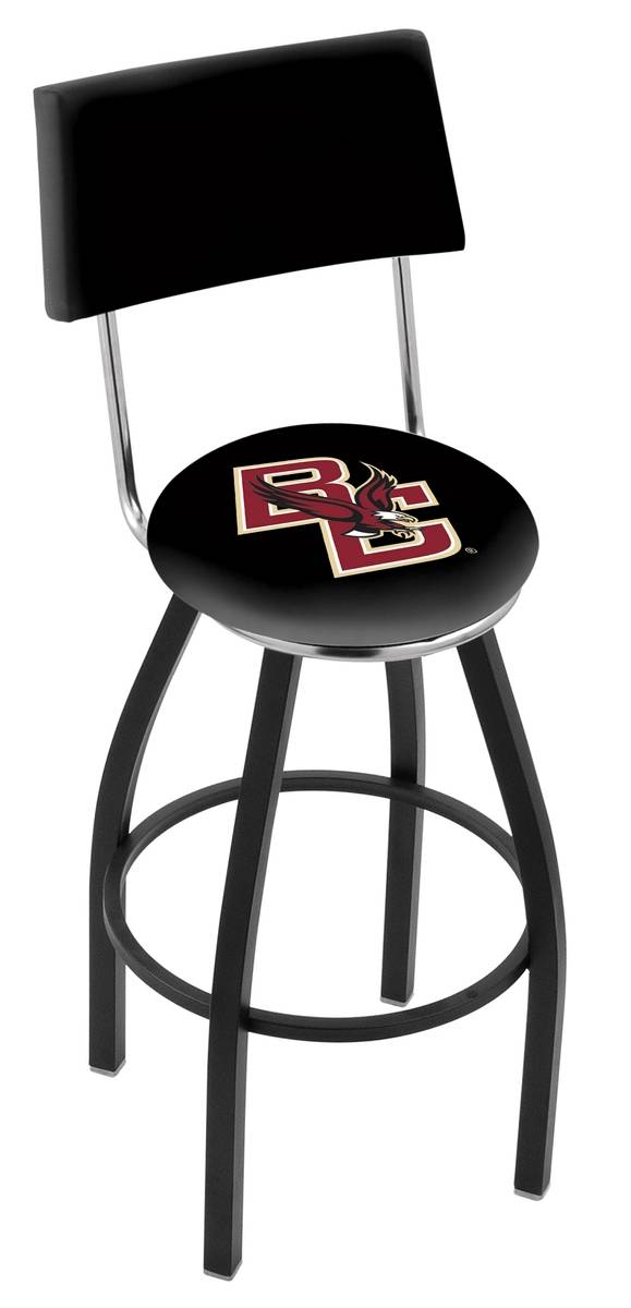 Boston College Eagles Black Swivel Bar Stool with Back : 952 l8b4bostnc 25mainProductImageFullSize from www.sportsunlimitedinc.com size 579 x 1200 jpeg 68kB