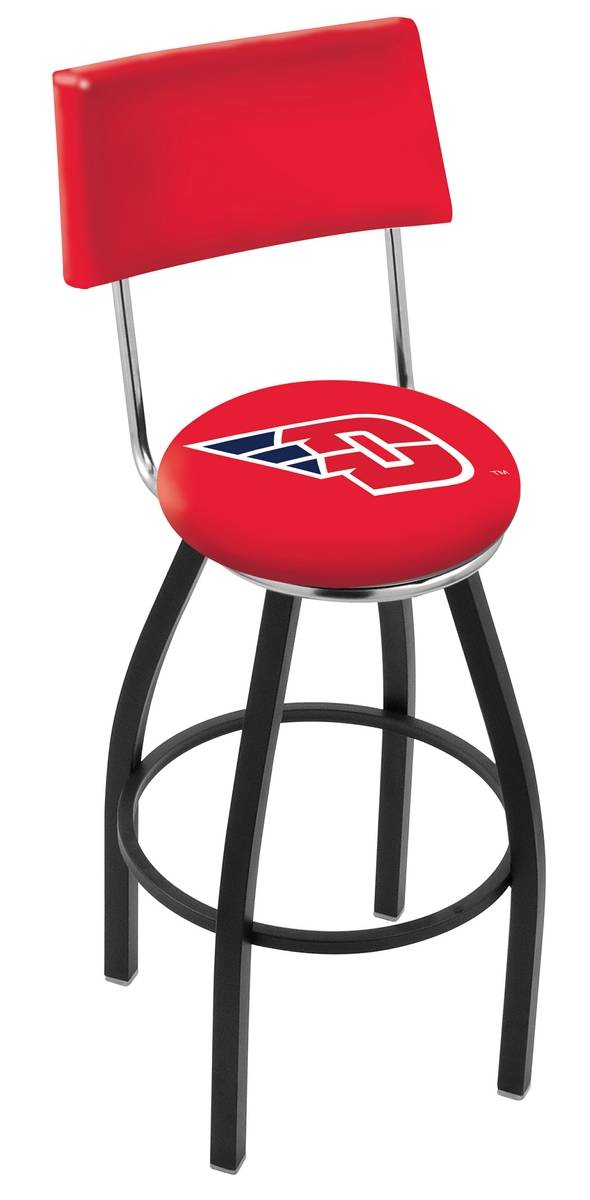 Dayton Flyers Black Swivel Bar Stool with Back : 952 l8b4dytnun 25mainProductImageFullSize from www.sportsunlimitedinc.com size 590 x 1200 jpeg 72kB