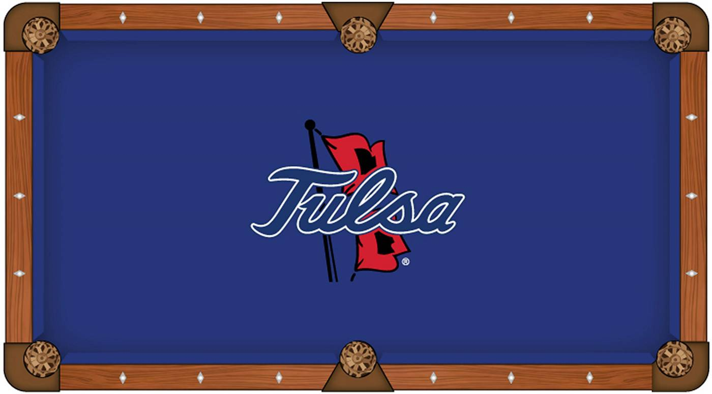 Tulsa Golden Hurricane Pool Table Cloth