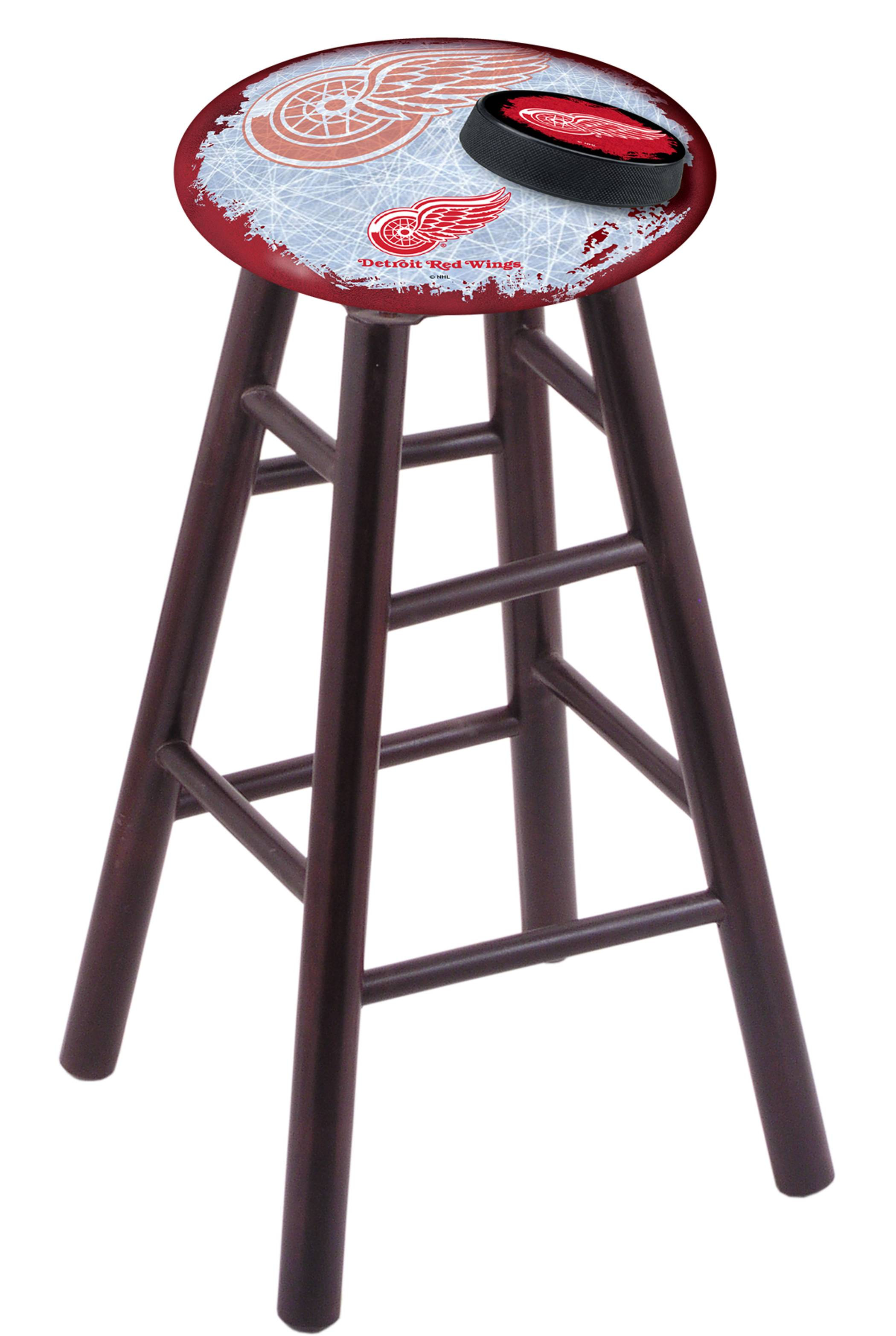 Detroit Red Wings Maple Wood Bar Stool