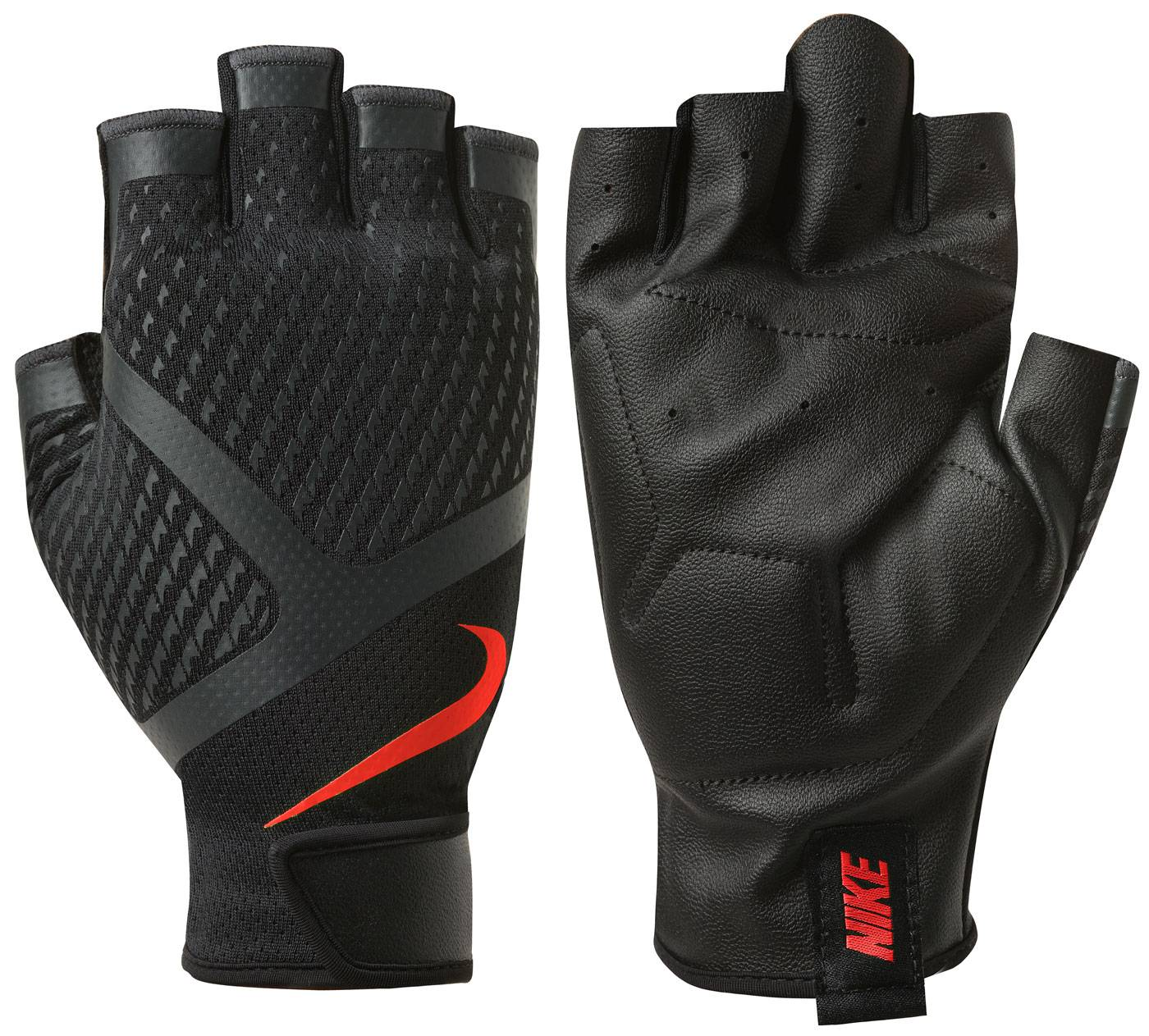 Mens nike leather gloves - Constructed With A Padded Pu Leather Palm The Nike Men S Renegade Training Gloves Offer You Lightweight Stability And Support While You Train