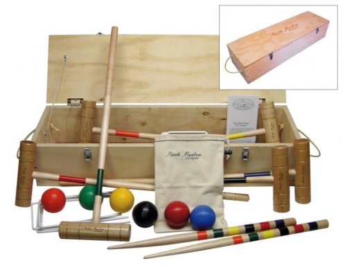 North Meadow Acadia 6-Player Croquet Set with Pine Storage Box