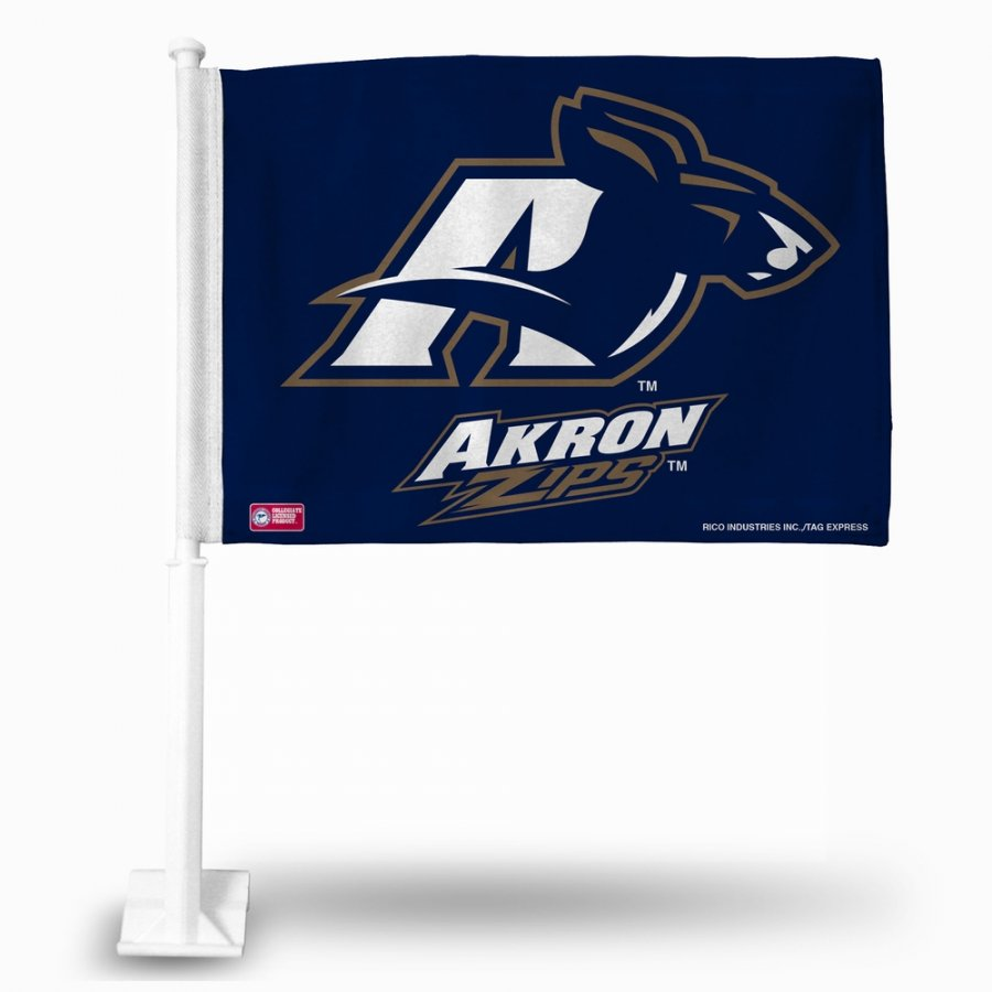 Akron Zips College Car Flag