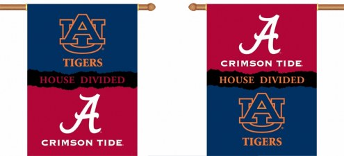 """Alabama / Auburn Premium House Divided 28"""" x 40"""" Two-Sided Banner"""