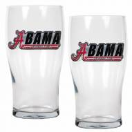 Alabama Crimson Tide 20 oz. Pub Glass - Set of 2