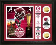 Alabama Crimson Tide 2016 National Champs Banner Gold Coin Photo Mint