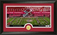 Alabama Crimson Tide 2016 National Champs Bronze Coin Panoramic Photo Mint