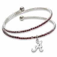 Alabama Crimson Tide Amped Logo Crystal Bracelet
