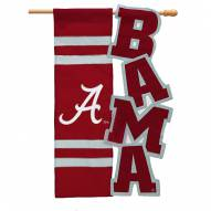 Alabama Crimson Tide Applique Garden Flag