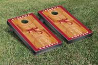 Alabama Crimson Tide Basketball Court Cornhole Game Set