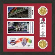 Alabama Crimson Tide BCS Champions Ticket Collection Framed