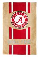 Alabama Crimson Tide Burlap Flag
