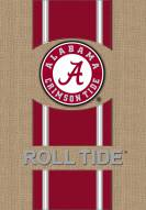 Alabama Crimson Tide Burlap Garden Flag