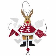 Alabama Crimson Tide Cheering Reindeer Ornament