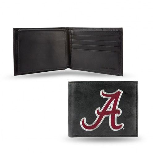Alabama Crimson Tide College Embroidered Leather Billfold Wallet