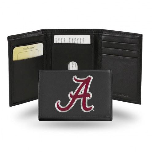 Alabama Crimson Tide College Embroidered Leather Tri-Fold Wallet