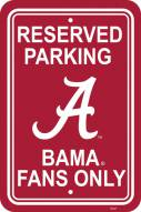 Alabama Crimson Tide College Parking Sign