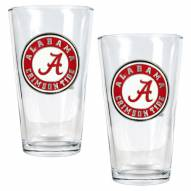 Alabama Crimson Tide College 16 Oz. Pint Glass 2-Piece Set